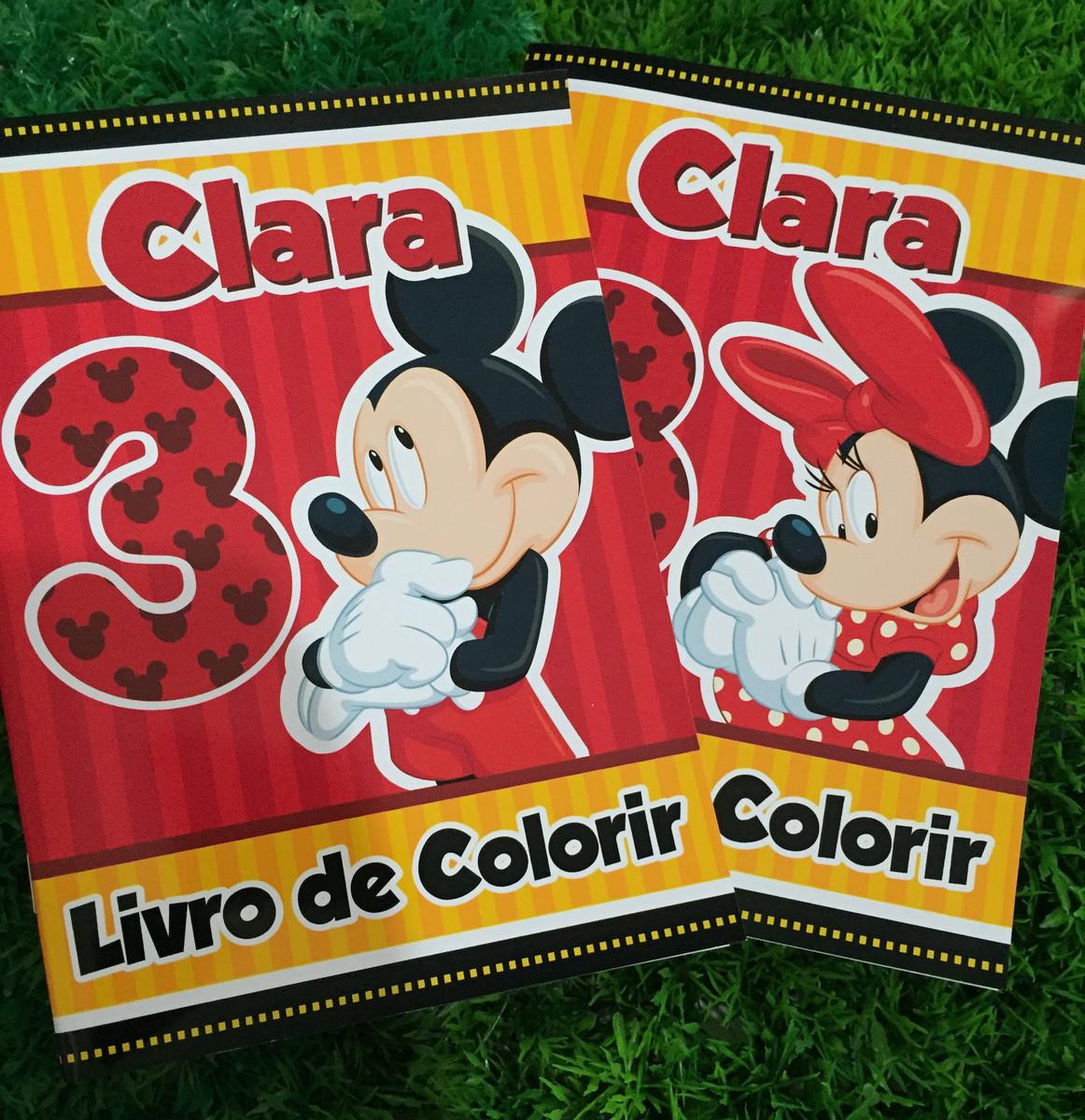 livro de colorir mickey e minnie no elo7 dreamland soluções