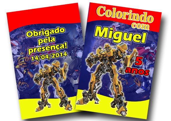 revista de colorir transformers 14x10 no elo7 tudo de festa galvão