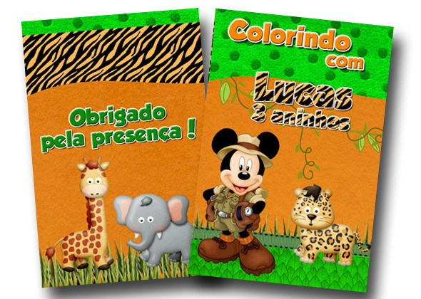 Revista De Colorir Mickey Safari 14x10 No Elo7 Tudo De Festa