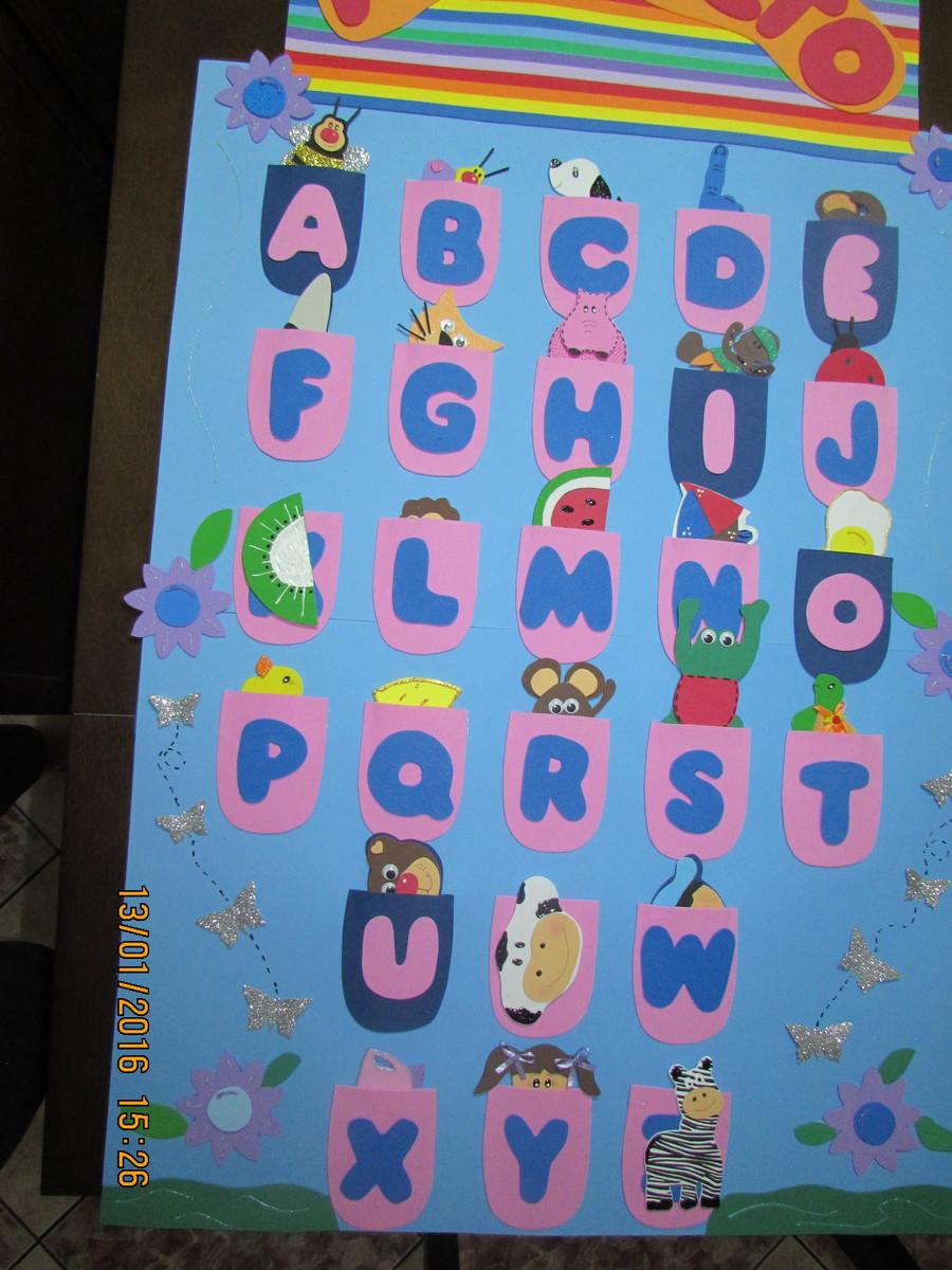 Alfabeto drika padula elo7 for Mural de isopor e eva