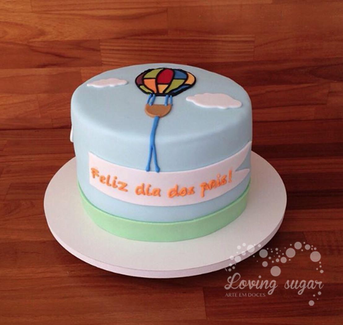 Bolo Balão dia dos Pais   Loving Sugar   Elo7