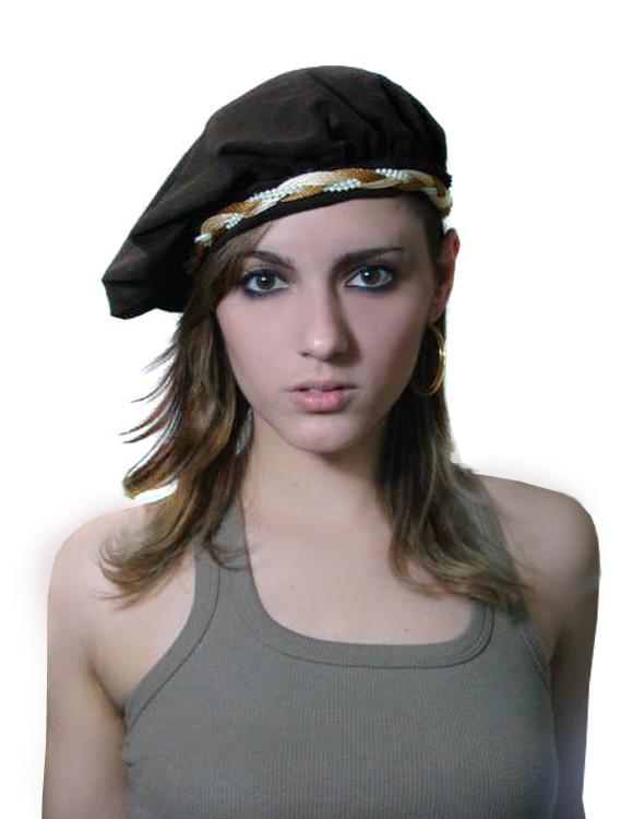 Boina Francesa Marrom com Headband no Elo7  cc59c4e02dd