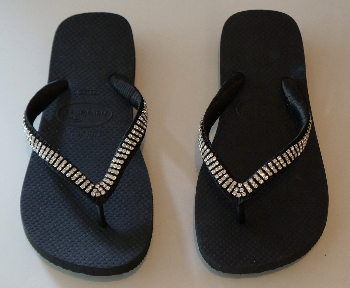 shop large discount best sneakers Chinelo Havaianas Preto strass triplo