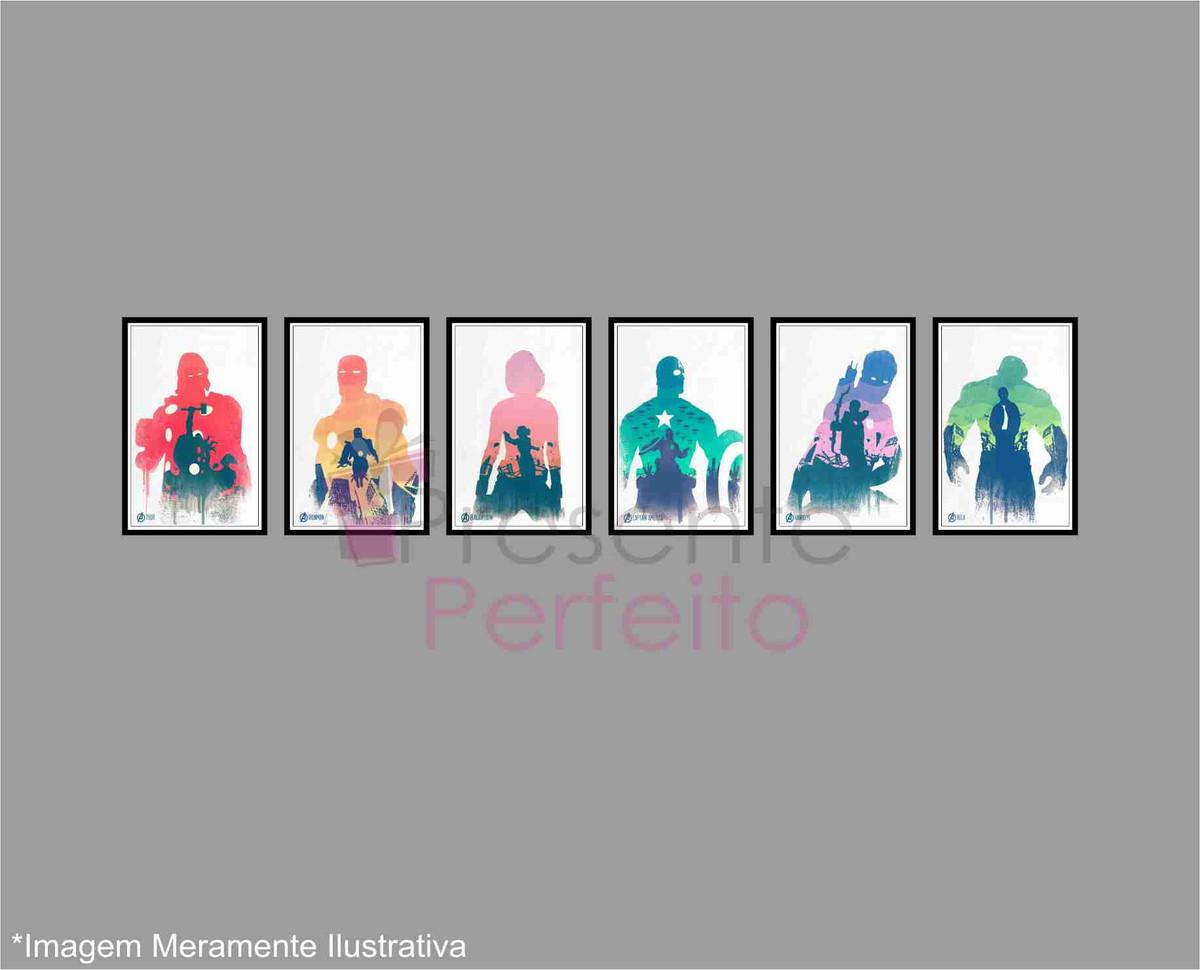Vingadores 6 posters decorativos tam a4 no elo7 loja - Posters decorativos ...
