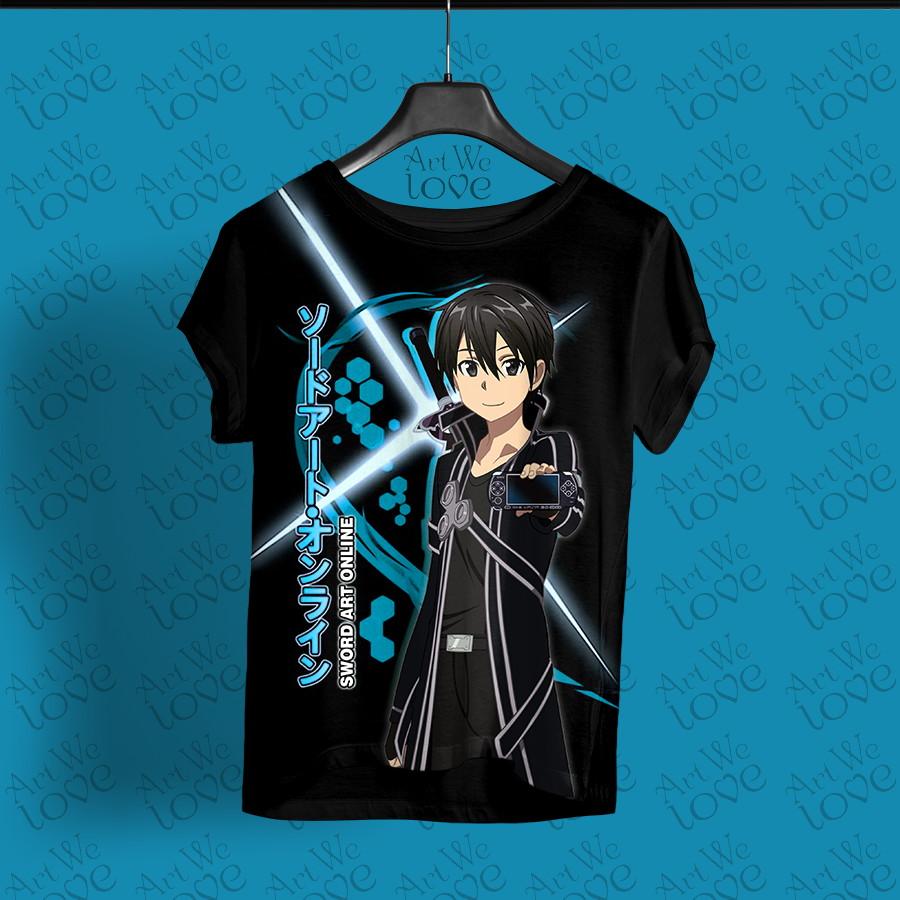 e83cc023f Camiseta Kirito - SAO no Elo7