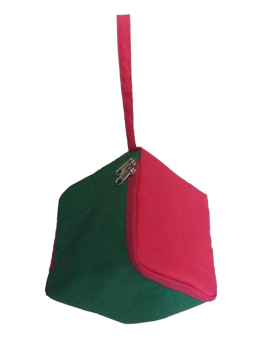 Lancheira Cubo Bicolor Verde Rosa no Elo7   HazelnutHazel (640E9B) 7b808702ec