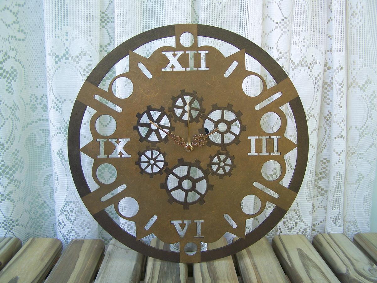 fb084b4a582 Relógio de Parede Dourado Engrenagens no Elo7