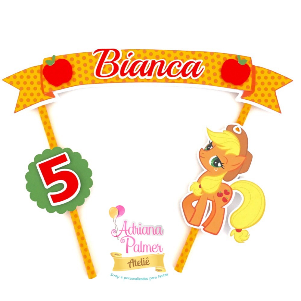 topper para bolo my little pony no elo7 ateli adriana palmer 5a412b. Black Bedroom Furniture Sets. Home Design Ideas