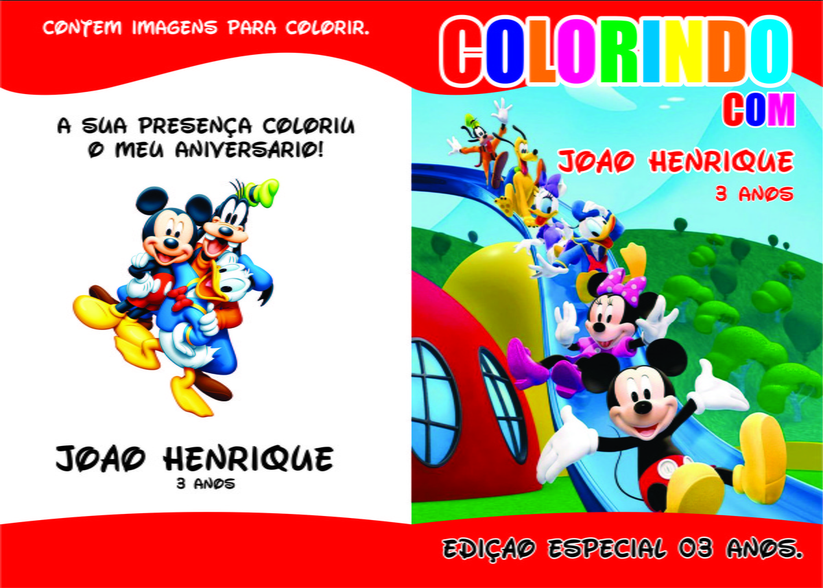 Revistinha De Colorir Turma Do Mickey