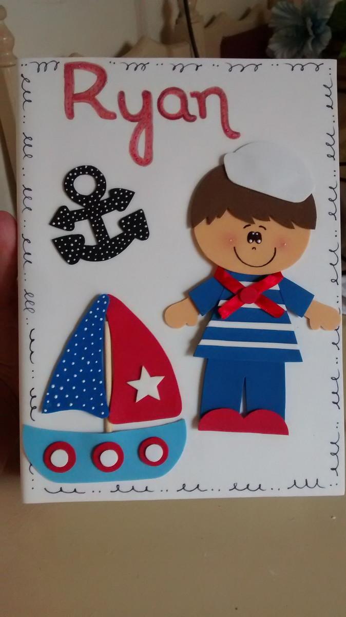 Caderno Personalizado Menino Marinheiro No Elo7 Gisela Neves