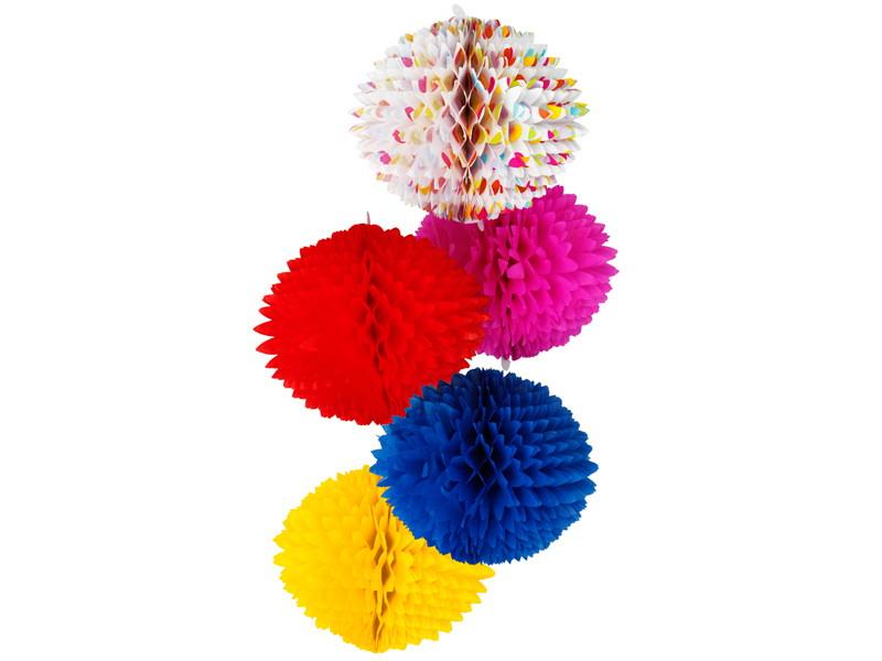 b63e4f906d237 Bola pompom de papel 13cm diversas cores seda personalize no Elo7 ...