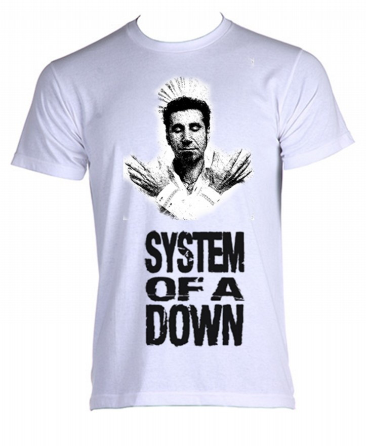 Camiseta system of a down 02 no Elo7  3c85684a9b54d