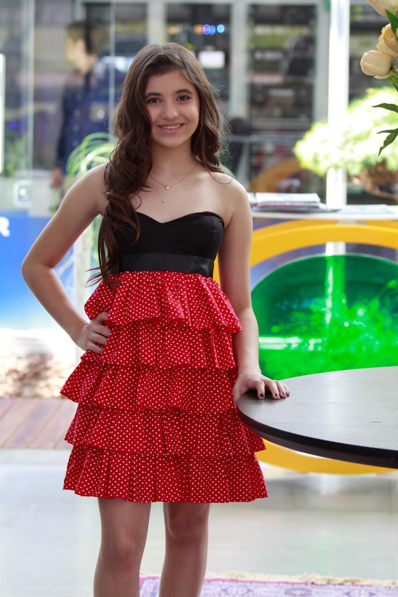 74310e764 Vestido de Festa Preto e Vermelho - Teen no Elo7