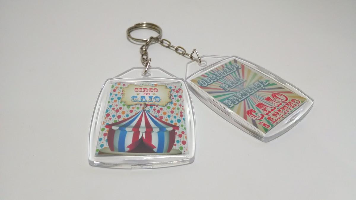 Circo Vintage Chaveiro Personalizado no Elo7   Adedonha Festa (655665) 182a76586f