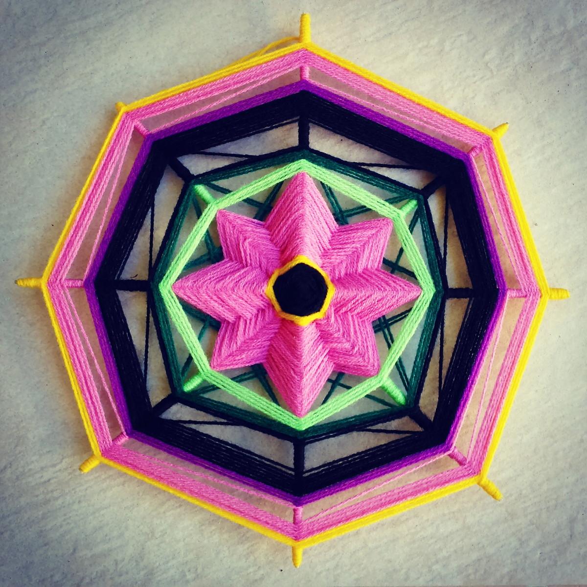 Mandala flor harmonia e cor elo7 for Cuadros mandalas feng shui decoracion mandalas
