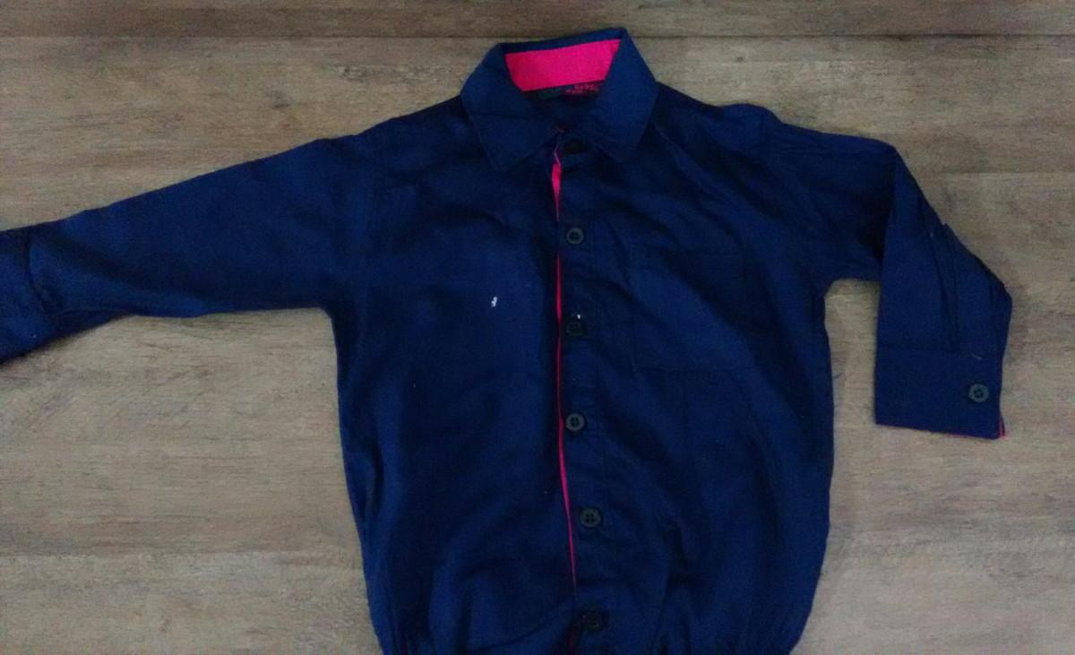 Camisa Para Bebê Body Azul Marinho no Elo7  a354037938899