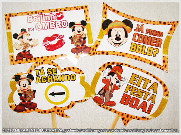 Plaquinhas Mickey Safari No Elo7 Artfest 6567b4