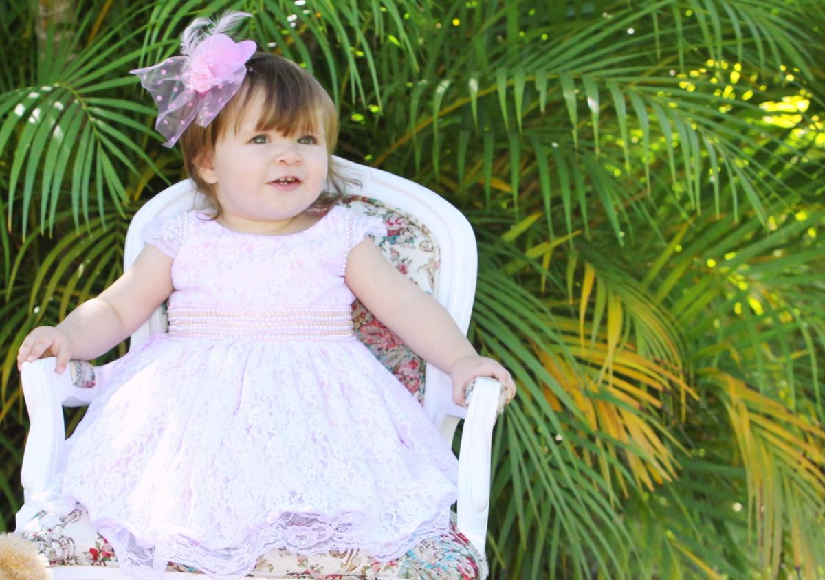 92f57dcce Vestido Branco e Rosa - Batizado Infanti no Elo7 | Liminha Doce ...