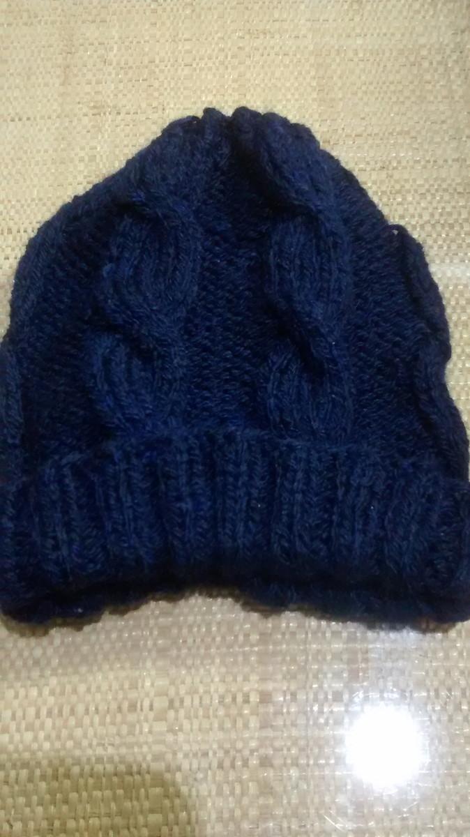 882a8b9a447ad Zoom · Gorro de lã touca-e-luva-azul-marinho-pronta-entrega-gorro-la-unissex