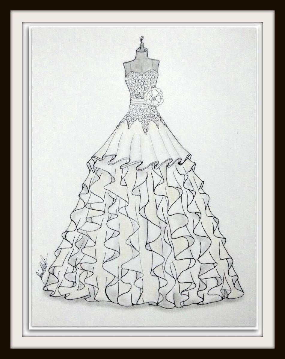 Ilustração De Vestido De Noiva