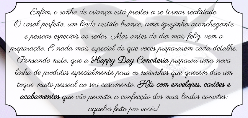 Happy Day Conviteria