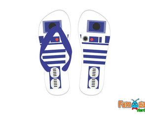 Chinelo R2D2 - Star Wars