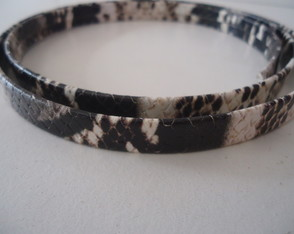 COURO 10MM ANIMAL PRINT PRETO