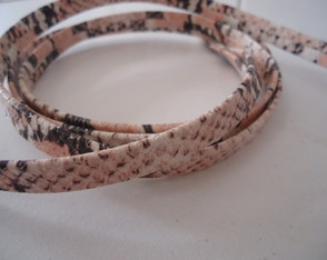 COURO 10MM ANIMAL PRINT ROSÉ