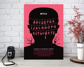 Placas Decorativas Stranger Things.